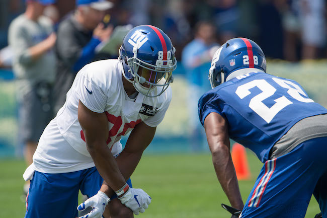 Victor Cruz and Eli Apple, New York Giants (July 30, 2016)