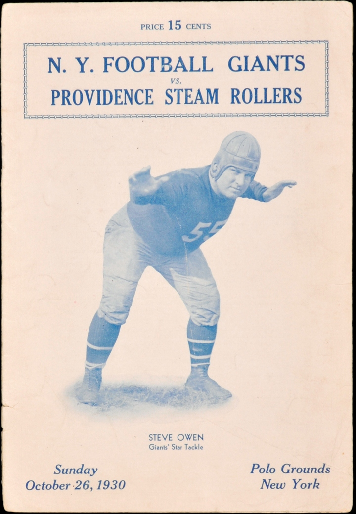 Steve Owen, New York Giants (October 26, 1930)