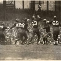 Benny Friedman with ball, New York Giants against Notre Dame All-Stars (December 14, 1930)