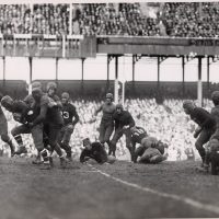 Green Bay Packers at New York Giants (November 23, 1930); Benny Friedman with the Football