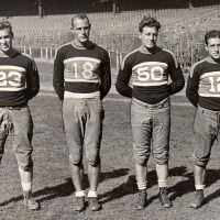 Bo Molenda (23), Dale Burnett (18), Ken Strong (50), Harry Newman (12); 1933 New York Giants