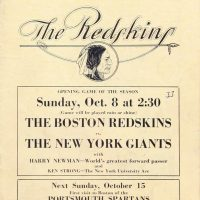 New York Giants - Boston Redskins Game Program (October 8, 1933)