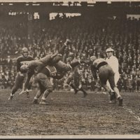 Dale Burnett (18), Harry Newman (12 - making the tackle), Ken Strong (50), New York Giants (November 30, 1933)