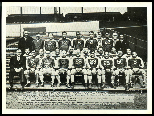1934 New York Giants