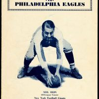 Mel Hein, New York Giants Game Program (October 28, 1934)