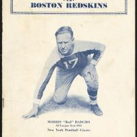 Red Badgro, New York Giants Game Program (November 25, 1934)