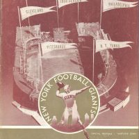 New York Giants - Washington Redskins Game Program (November 5, 1950)