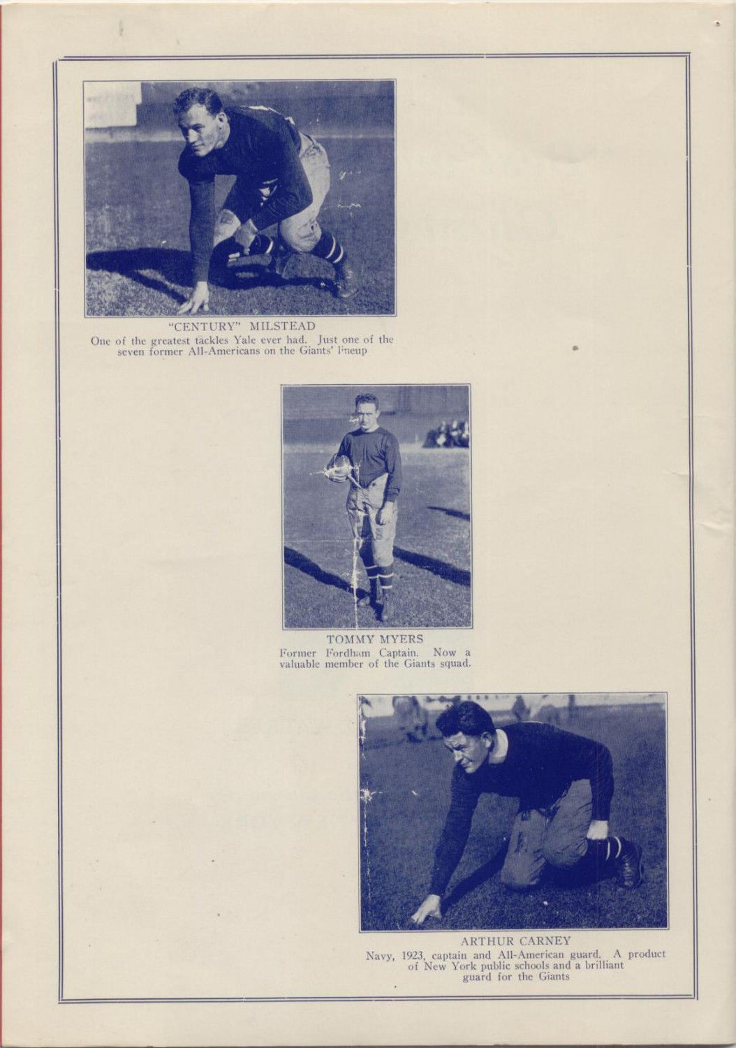 New York Giants vs. Frankford Yellow Jackets Game Program (October 18, 1925) - Page 3