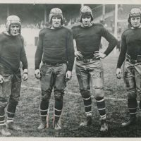 Dutch Hendrian, Jim Thorpe, Babe Parnell, Paul Jappe; New York Giants (October 18, 1925)