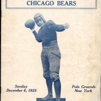 New York Giants - Chicago Bears Game Program (December 6, 1925)