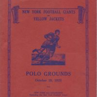 New York Giants vs. Frankford Yellow Jackets Game Program (October 18, 1925) - Cover