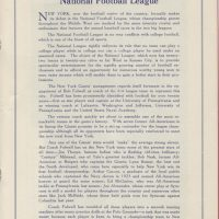 New York Giants vs. Frankford Yellow Jackets Game Program (October 18, 1925) - Page 1