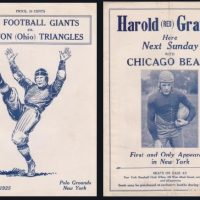 New York Giants Game Program (November 29, 1925)