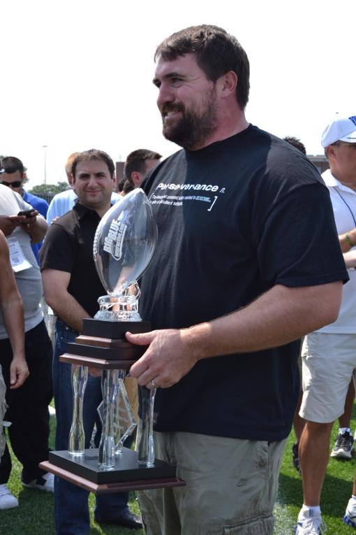 Rich Seubert, New York Giants (August 19, 2011)