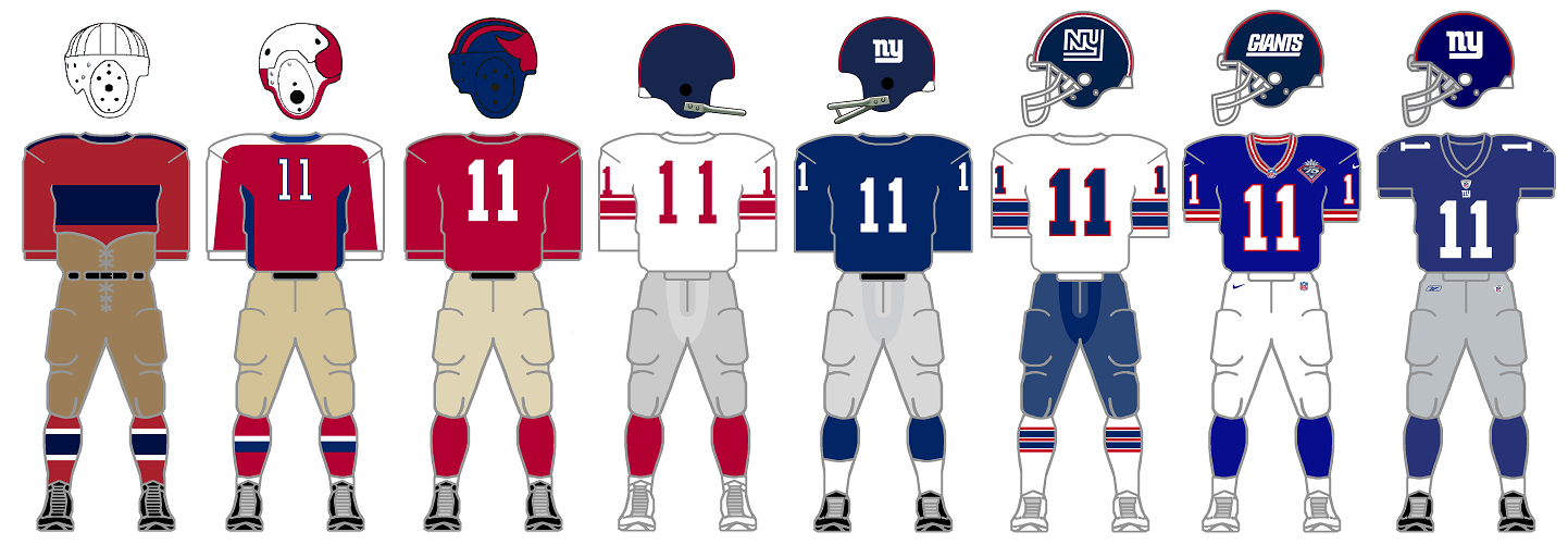Becoming Big Blue - A History of the New York Giants Uniforms 31a7cbb13