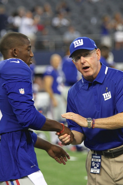 Antel Rolle and Tom Coughlin