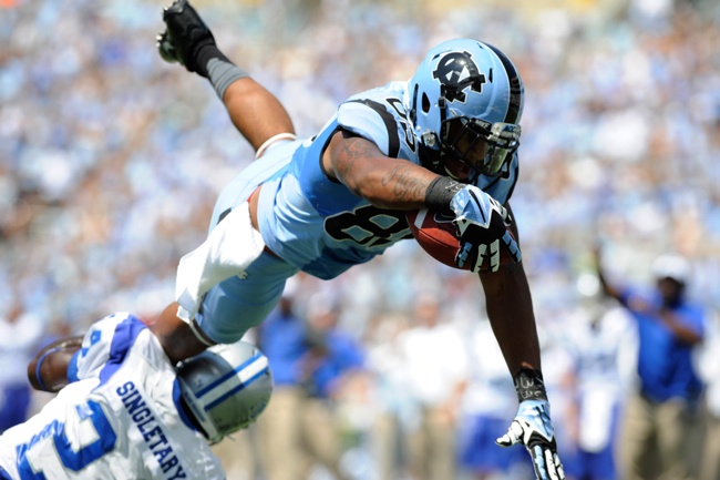 Eric Ebron, North Carolina Tar Heels (September 7, 2013)