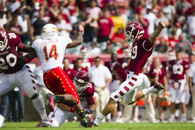 Brandon McManus, Temple Owls (September 8, 2012)