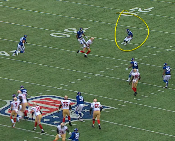 Crabtree beats DRC to the inside but Demps is way out of position, failing to prevent long TD