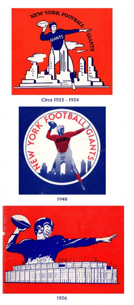 New York Giants early logos.