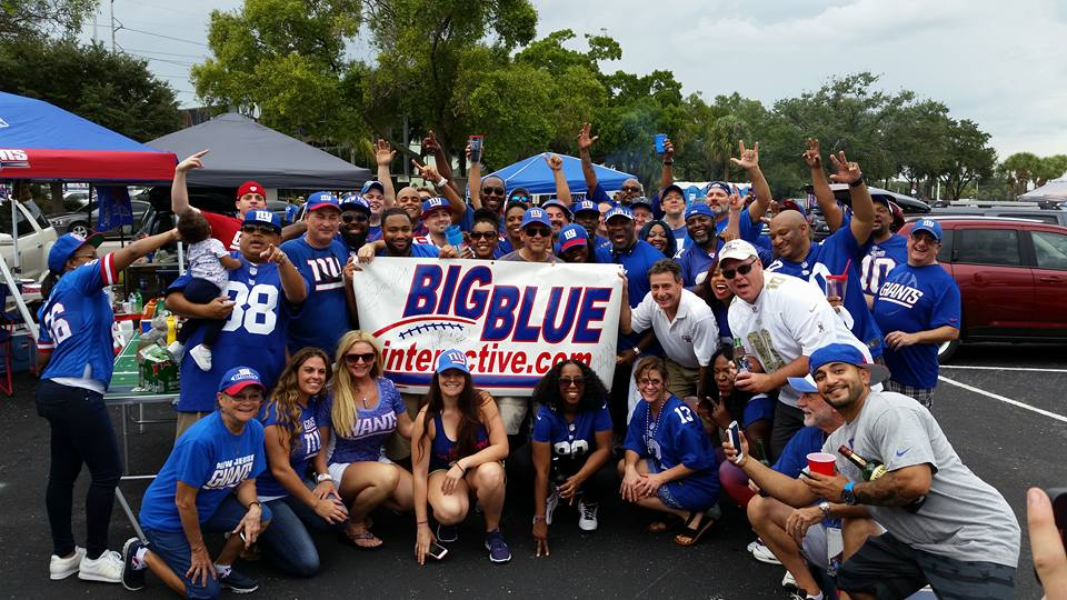 Giants fans in Tampa on Sunday - Photo courtesy of Tim Nargi