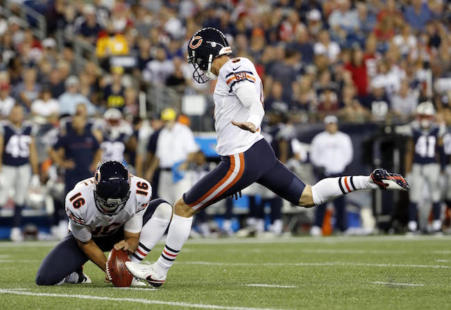 Robbie Gould, Chicago Bears (August 18, 2016)