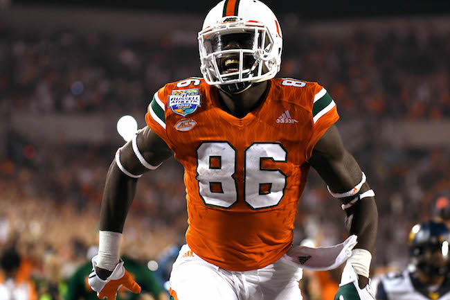 David Njoku, Miami Hurricanes (December 28, 2016)