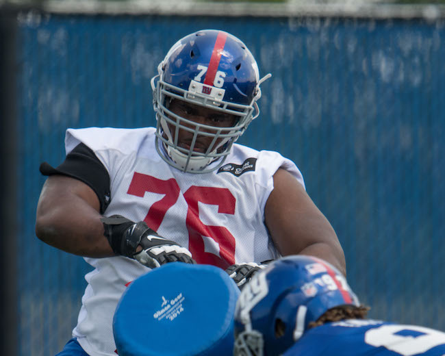 D.J. Fluker, New York Giants (June 13, 2017)