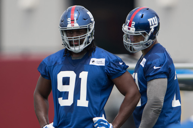 Avery Moss and Kerry Wynn, New York Giants (July 28, 2017)