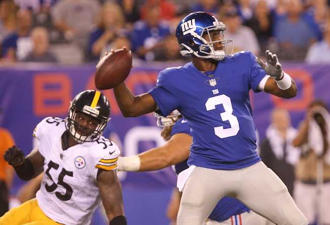 Geno Smith, New York Giants (August 11, 2017)