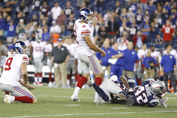 Aldrick Rosas, New York Giants (August 31, 2017)