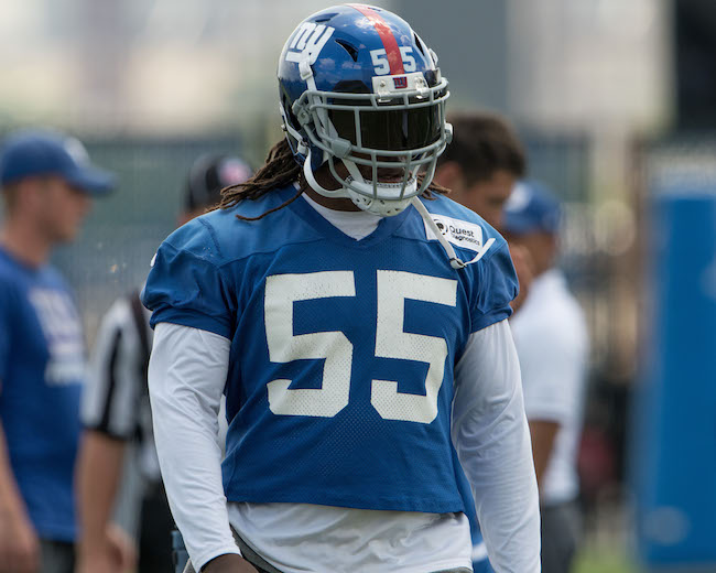 J.T. Thomas, New York Giants (June 13, 2017)