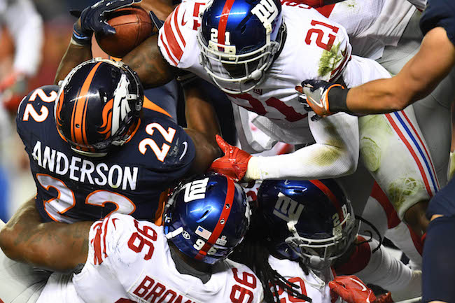 Landon Collins and Jay Bromley, New York Giants (October 15, 2017)