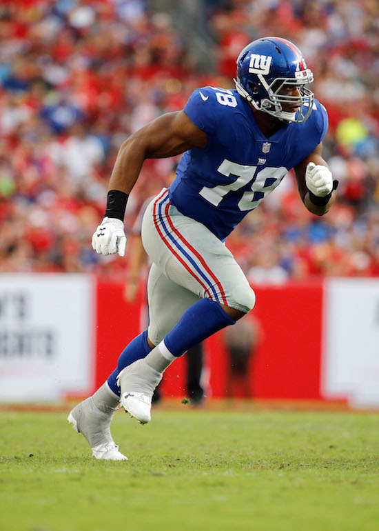 Romeo Okwara, New York Giants (October 1, 2017)