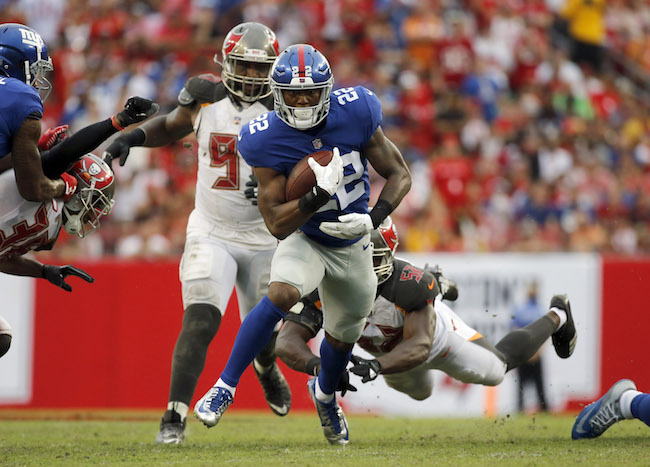 Wayne Gallman, New York Giants (October 1, 2017)