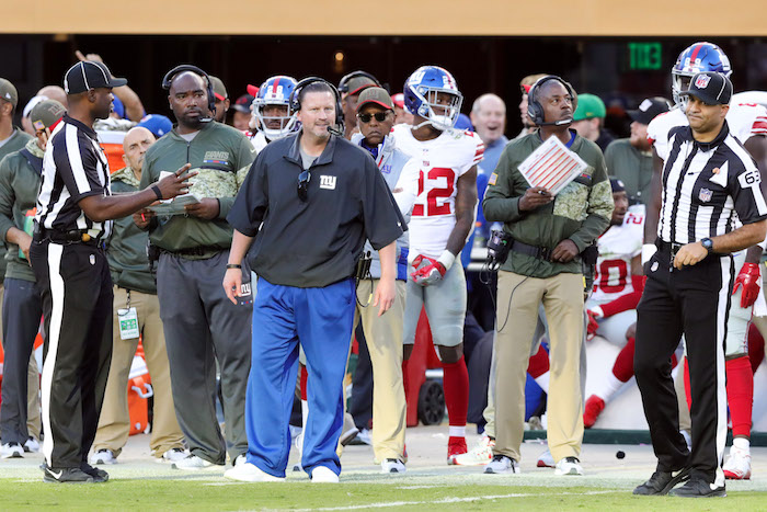Ben McAdoo, New York Giants (November 12, 2017)