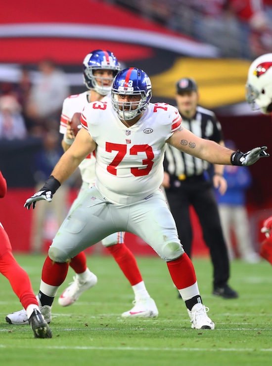 John Greco, New York Giants (December 24, 2017)