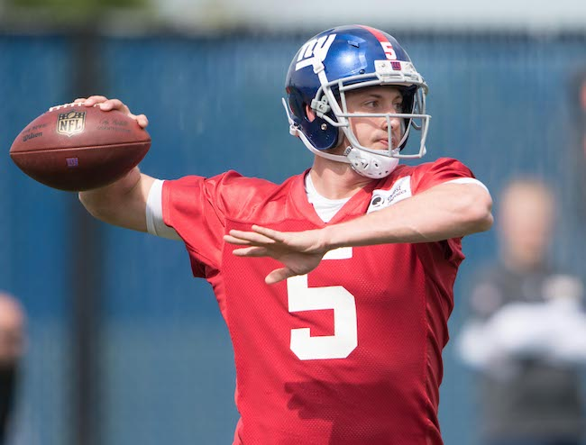 Davis Webb, New York Giants (May 12, 2017)