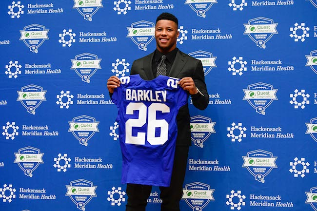 the best attitude 48762 a3ebc Saquon Barkley Press Conference - Big Blue Interactive