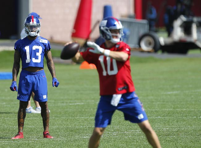 Odell Beckham and Eli Manning, New York Giants (May 21, 2018)