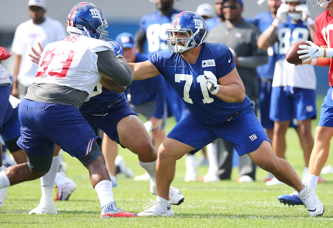 Robert Thomas and Will Hernandez, New York Giants (July 26, 2018)
