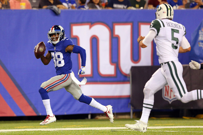 Donte Deayon, New York Giants (August 26, 2017)