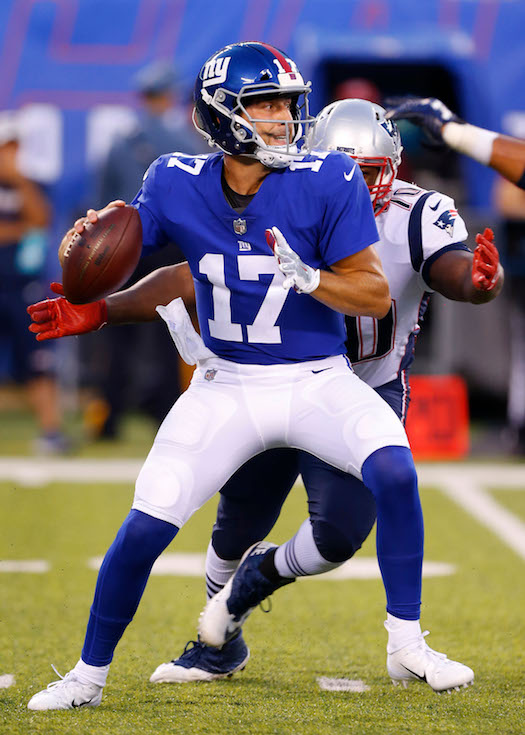 Kyle Lauletta, New York Giants (August 30, 2018)