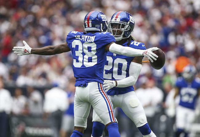 Donte Deayon and Janoris Jenkins, New York Giants (September 23, 2018)