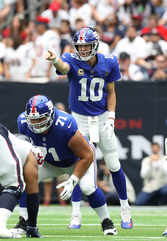Eli Manning, New York Giants (September 23, 2018)