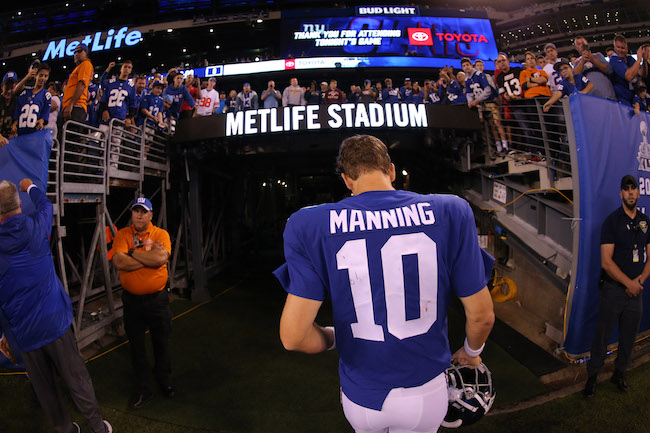 Eli Manning, New York Giants (September 30, 2018)