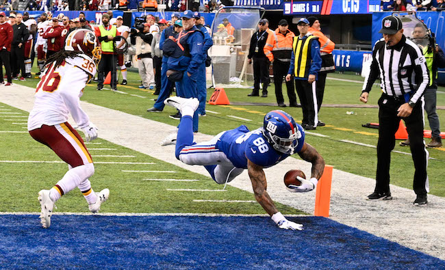 Evan Engram, New York Giants (October 28, 2018)