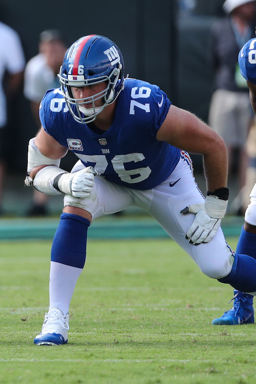 Nate Solder, New York Giants (October 7, 2018)