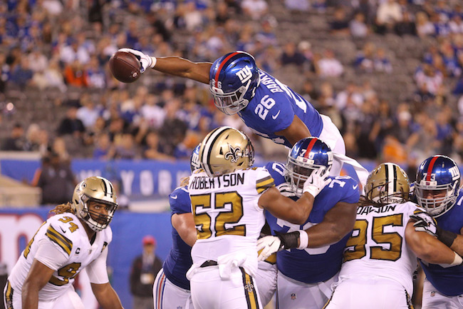 Saquon Barkley, New York Giants (September 30, 2018)