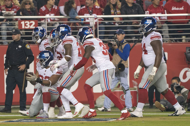 B.J. Goodson, New York Giants (November 12, 2018)